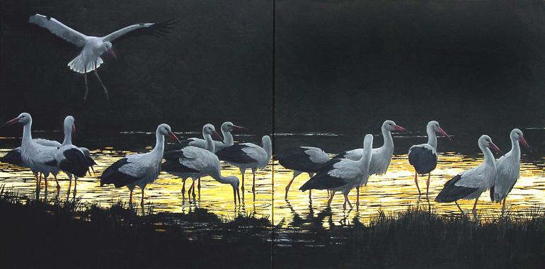 http://www.robertbateman.ca/paintings/03-43SerengetiDusk.jpg